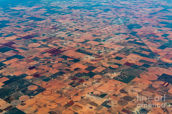 Raw Wall Art - Photograph - An Aerial View Of Massive Farmland With by Richard A Mcmillin