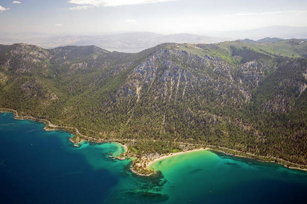 Lake Tahoe Photograph - An Aerial View Of Sand Harbor On The by Rachid Dahnoun