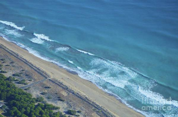Wall Art - Photograph - An Aerial View Of The Mediterranean Sea By Barcelona by Poet's Eye