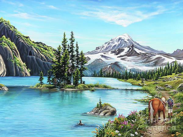Painting - An Afternoon Adventure by Joe Mandrick