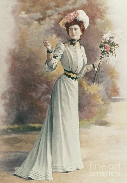 Wall Art - Photograph - An Afternoon Dress In The Rouff Design, Fashion Plate From Les Modes, July 1901 by French School