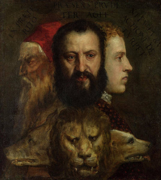 Wall Art - Painting - An Allegory Of Prudence, 1565 by Titian