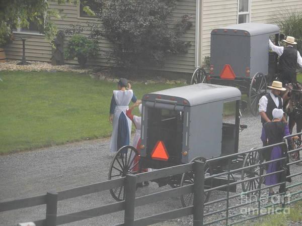 Photograph - An Amish Church Community by Christine Clark