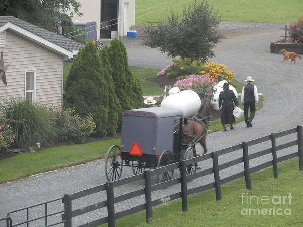Photograph - An Amish Congregation Starts To Gather by Christine Clark