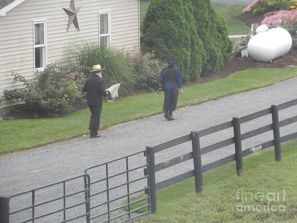 Photograph - An Amish Couple by Christine Clark