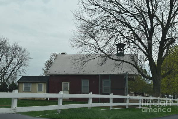 Photograph - An Amish Schoolhouse In Mid Spring by Christine Clark