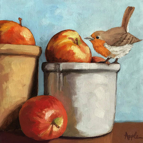 Wall Art - Painting - An Apple A Day by Linda Apple