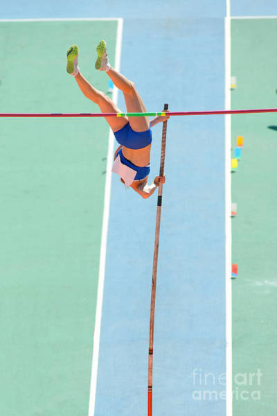 Wall Art - Photograph - An Athlete Attempts Successful A Pole by Maxisport