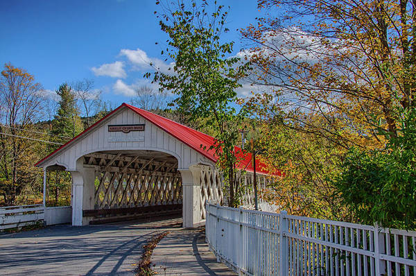 Photograph - An Autumn Morning At The Ashuelot Covered Bridge by Jeff Folger