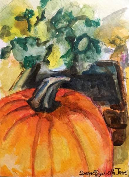 Wall Art - Painting - An Autumnal Tease by Susan Elizabeth Jones