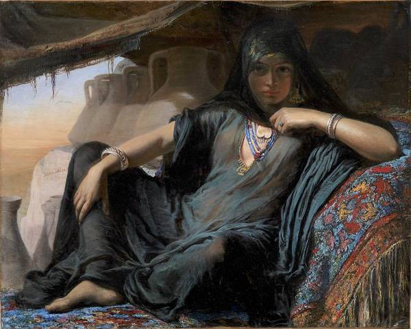Wall Art - Painting - An Egyptian Pot Seller At Gizeh, 1876-78 Elisabeth Jerichau Baumann by Elisabeth Jerichau Baumann