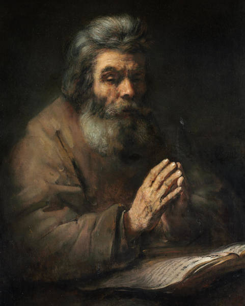 Wall Art - Painting - An Elderly Man In Prayer, 1660 by Rembrandt van Rijn