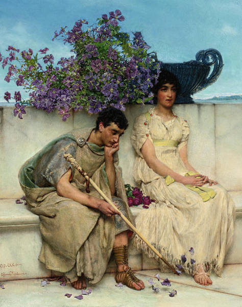 Wall Art - Painting - An Eloquent Silence, 19th Century by Lawrence Alma-Tadema