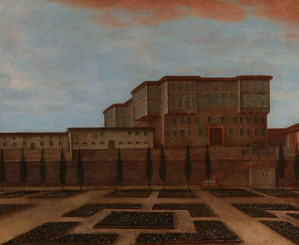 Painting - An Embassy Building In Pera by Jean Baptiste Vanmour