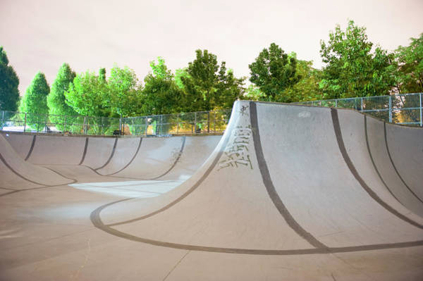 Skateboard Photograph - An Empty Skateboard Park by Brian Caissie