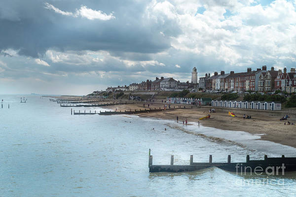 Art Print featuring the photograph An English Beach by Perry Rodriguez