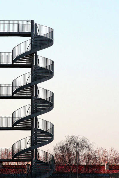 Paris Rooftop Photograph - An Escape Stairway by Gerard Hermand