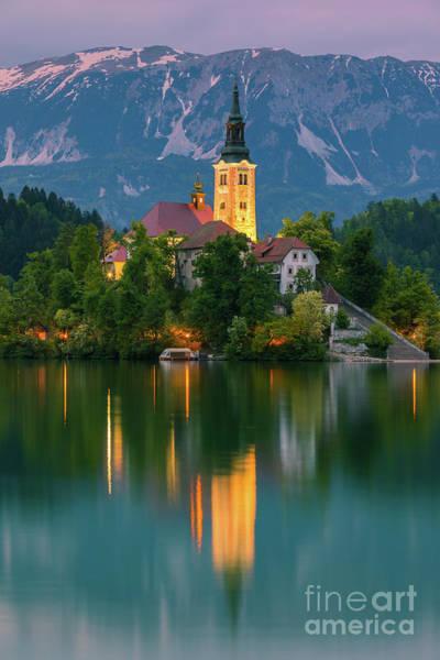 An Evening At Lake Bled, Slovenia Art Print