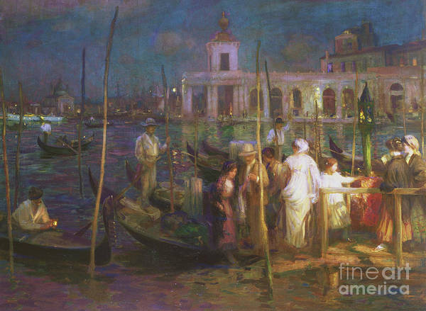 Wall Art - Painting - An Evening In Venice, Circa 1910 by Charles Hodge Mackie