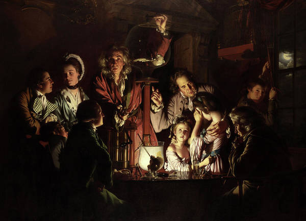 Wall Art - Painting - An Experiment On A Bird In The Air Pump, Circa 1768 by Joseph Wright of Derby