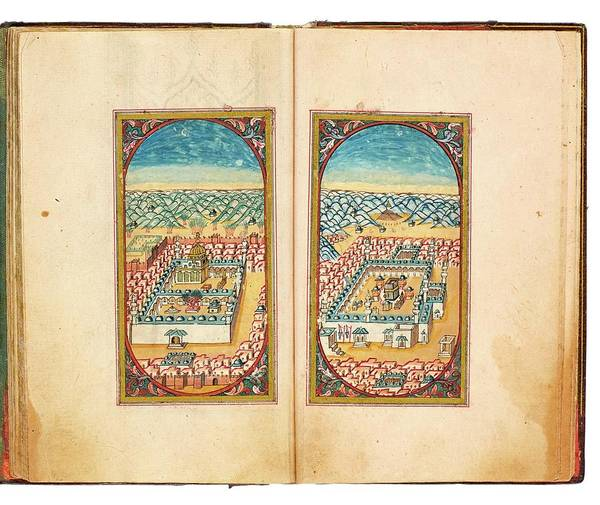 Wall Art - Painting - An Illuminated Collection Of Prayers, Including Dala Il Al-khayrat, Signed By Mehmed Saif Al-din, Tu by Celestial Images