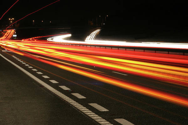 Long Tail Photograph - An Image Of A Object Moving Faster Than by Alfsky