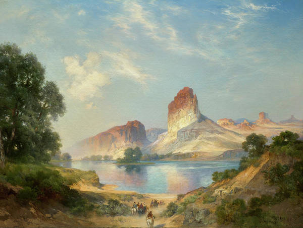 Wall Art - Painting - An Indian Paradise, Green River, Wyoming by Thomas Moran