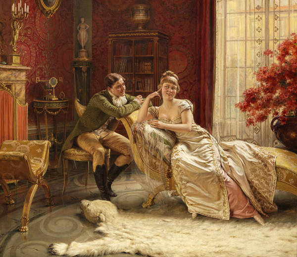 Wall Art - Painting - An Interesting Conversation by Frederic Soulacroix