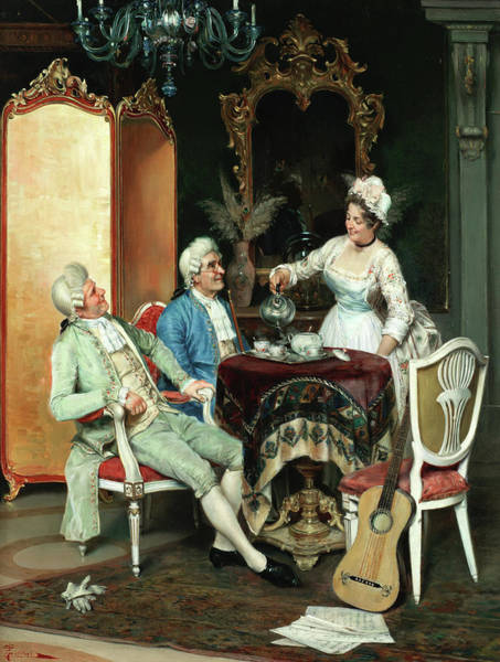 Wall Art - Painting - An Interlude For Refreshment by Pietro Torrini