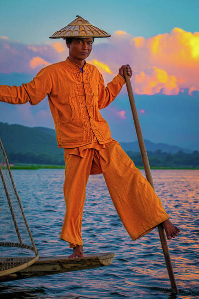 Photograph - An Intha Fisherman by Chris Lord