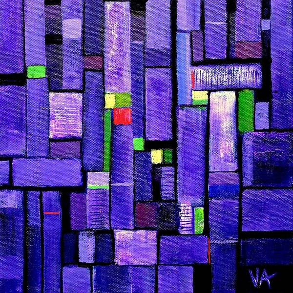 Painting - An Iris For The Master by VIVA Anderson