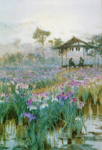 Believers Painting - An Iris Garden - Digital Remastered Edition by Yoshida Hiroshi