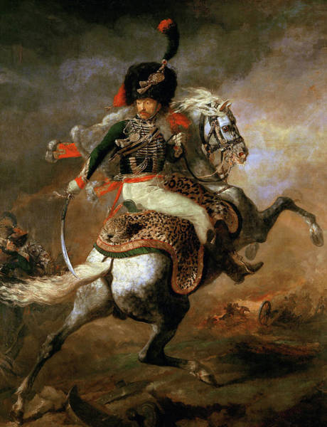 Wall Art - Painting - An Officer Of The Imperial Horse Guards Charging, 1812 by Theodore Gericault