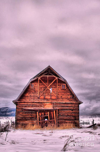 Call Building Photograph - An Old Barn On A Cold Winter's Day by Jeff Swan