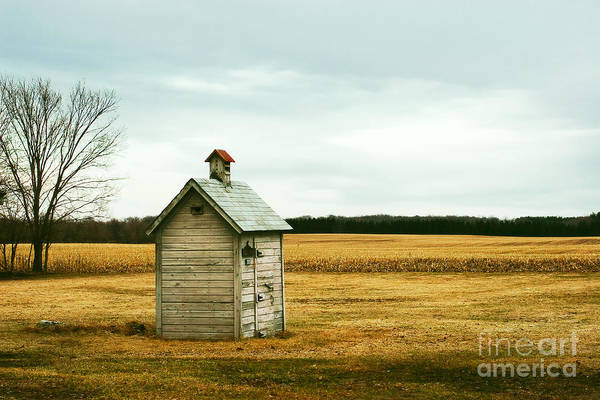 Autumnal Wall Art - Photograph - An Old Outhouse In The Middle Of An by Todd Klassy