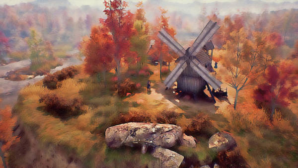 Painting - An Old Windmill - 01 by Andrea Mazzocchetti