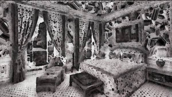 Digital Art - An Ornate Bedroom by Mario Carini
