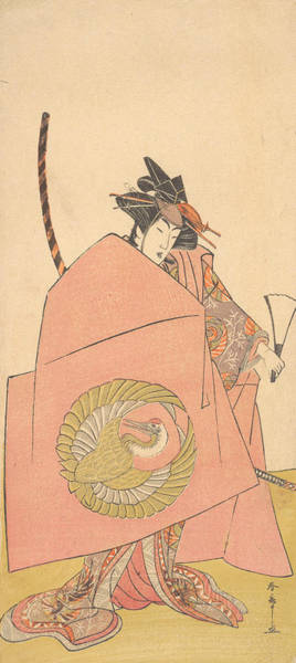 Wall Art - Relief - An Unidentified Actor In The Onna Shibaraku Act by Katsukawa Shunsho
