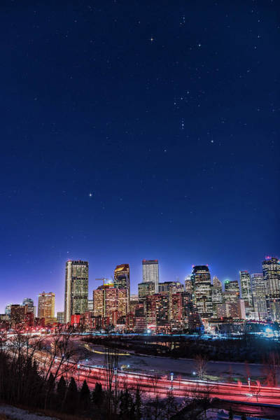 Photograph - An Urban Nightscape by Alan Dyer