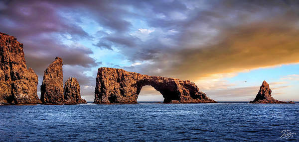 Photograph - Anacapa Island Arch Rock by Endre Balogh
