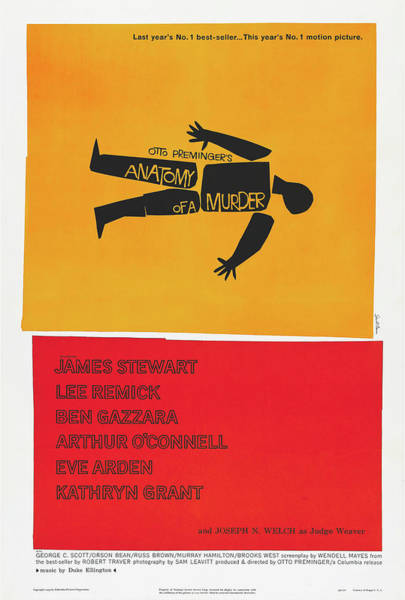 Wall Art - Photograph - Anatomy Of A Murder Vintage Movie Poster 1958 by Mountain Dreams
