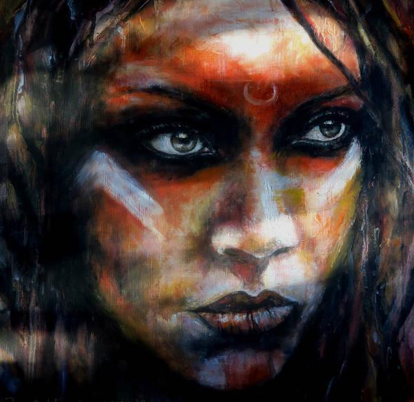 Primal Painting - Ancestress by Zoe Oakley