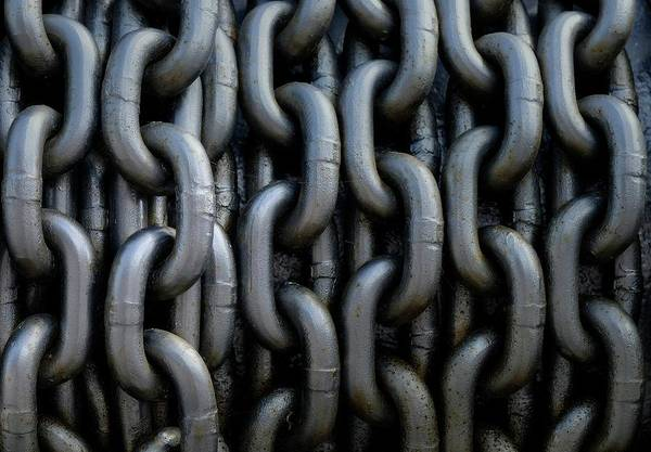 Wall Art - Photograph - Anchor Chain by Lotte Grønkjær