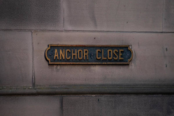 Photograph - Anchor Close - Edinburgh Scotland by Bill Cannon