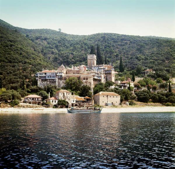Ancient Greek Photograph - Ancient Dochiariou Monastery At Mount by Vasiliki