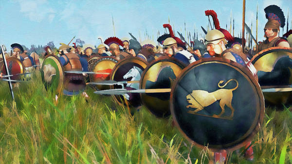 Painting - Ancient Greek Army - 03 by Andrea Mazzocchetti