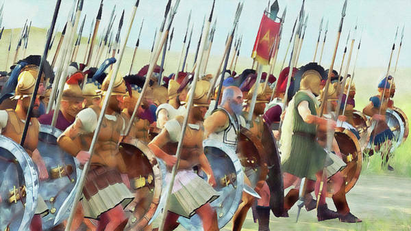 Painting - Ancient Greek Army - 04 by Andrea Mazzocchetti