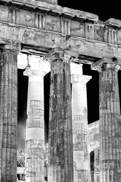 Photograph - Ancient Greek Columns Athens by John Rizzuto