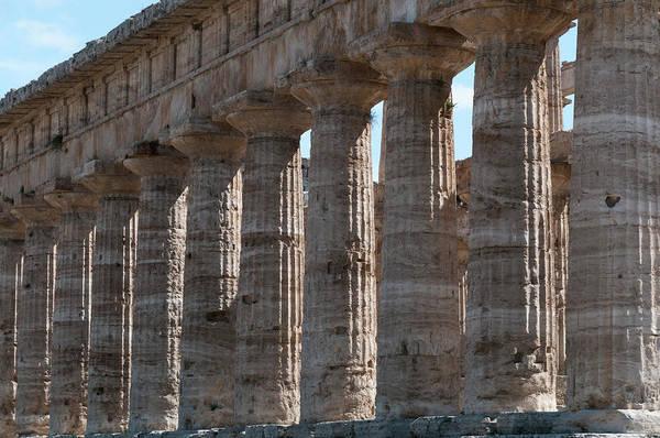 Ancient Greek Photograph - Ancient Greek Columns In Paestum by Stuart Mccall