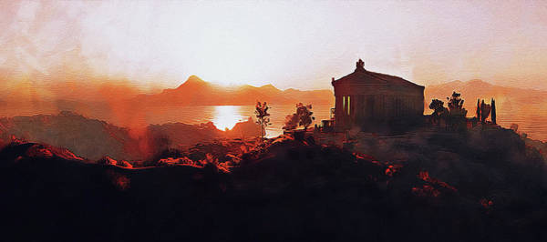 Peloponnese Painting - Ancient Greek Temple by Andrea Mazzocchetti